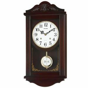 リズム時計 4MJA01RH06 掛時計 アタシュマンR 茶色半艶仕上