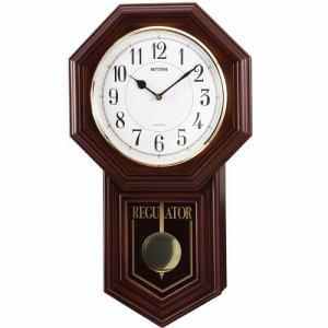 リズム時計 4MJA03RH06 掛時計 ベングラーR 茶色半艶仕上
