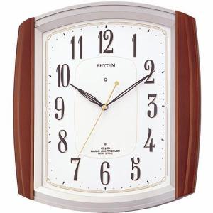 リズム時計 4MN469RH06 掛時計 ネムリーナM469R 茶色半艶仕上