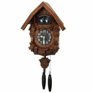 リズム時計 4MJ236RH06 からくり時計 カッコーテレスR 濃茶ボカシ木地仕上