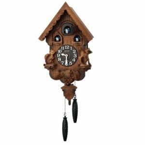 リズム時計 4MJ221RH06 からくり時計 カッコーパンキーR 濃茶ボカシ木地仕上