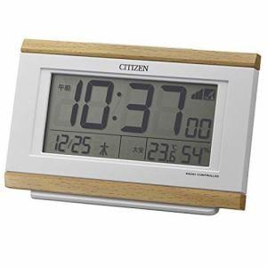 リズム時計 8RZ161-007 パルデジットキング 電波目覚し時計 電子音アラーム 温湿度表示付