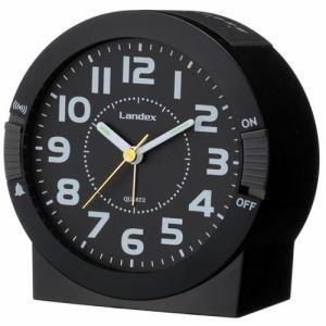 ランデックス YT5240BK イクシオンST 目覚し時計 ブラック ステップ秒針 アラーム切替機能付
