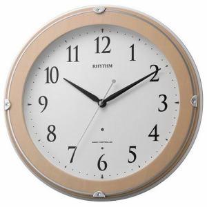 リズム時計 8MYA23SR13 ピュアライトマーロン 電波掛時計
