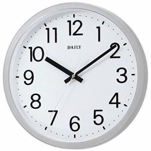 リズム時計 4KGA06DN19 掛時計 フラットフェイスDN シルバーメタリック色
