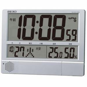 セイコークロック SQ434S プログラム機能付デジタル時計 電波置時計 温・湿度表示 掛置兼用モデル