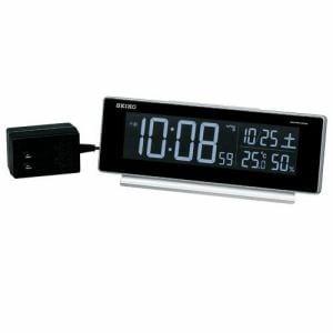 セイコークロック DL207S 電波デジタルクロック ブラック 温度湿度表示 スヌーズ機能付