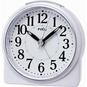 セイコークロック NR439W 目覚まし時計 PYXIS  白パール塗装
