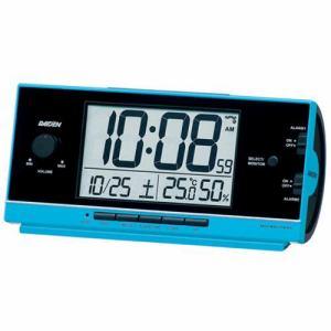 セイコークロック NR534L PYXIS ライデン 電波目覚し時計 大音量電子音アラーム(12パターン) 温・湿度表示 ライト付
