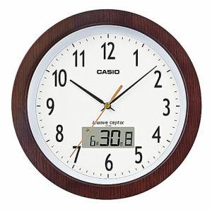 カシオ IC-1110J-5JF 電波掛時計 木製 月・日・曜日表示 フルオートカレンダー機能付