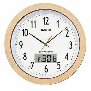 カシオ IC-1110J-7JF 電波掛時計 木製 月・日・曜日表示 フルオートカレンダー機能付