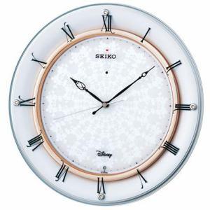 セイコークロック FS501W 電波掛時計 白パール塗装 スイープセコンド おやすみ秒針 石膏ボード用掛金具付