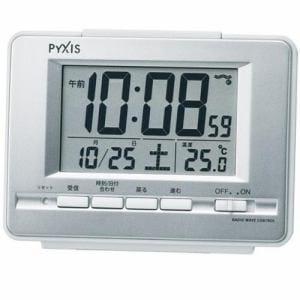 セイコークロック NR535W PYXIS 電波デジタル時計 温度表示付置時計 電子音アラーム(スヌーズ付) ライト付