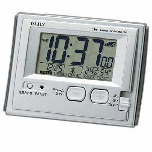 リズム時計 8RZ126DN19 DAILY ジャストウェーブR126DN デジタル電波時計 温度・湿度表示付