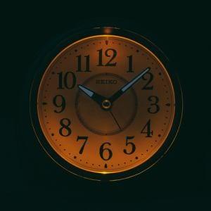 セイコークロック KR888P 夜でも見える 目覚まし時計