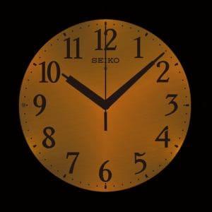 セイコークロック KX381S 夜でも見える 電波掛け時計