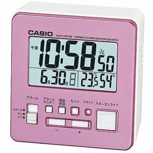 カシオ DQD-805J-4JF 置時計 パールピンク スヌーズ機能 温度・湿度計付 デジタル電波モデル