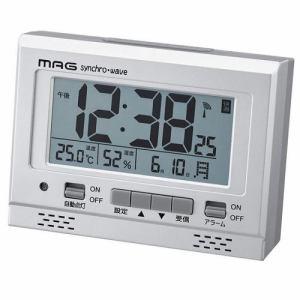 ノア精密 T-694SM-Z MAG 電波デジタル時計 エアサーチグッドライト 温度・湿度表示付
