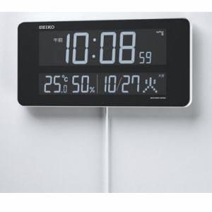 セイコークロック DL208W シリーズC3 デジタル電波置時計 温・湿度表示 電子音アラーム(スヌーズ付) グラデーション表示機能付