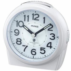 ノア精密 T-653WH-Z MAG ジャックポットDX アナログ目覚し時計 連続秒針 スヌーズ機能付