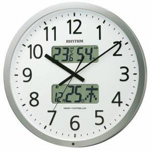 リズム時計 4FN403SR19 掛時計 プログラムカレンダー シルバーメタリック色