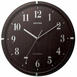 リズム時計 8MY501SR06 ライブリーアリス 電波掛時計 ブラウン 連続秒針機能付