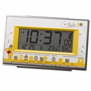 リズム時計 8RZ133MC08 電波デジタル時計 温度・湿度表示 アラーム機能付