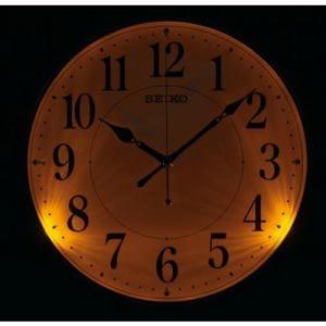 セイコークロック KX204B 電波掛時計 木枠(茶木地塗装) ステップセコンド おやすみ秒針 自動点灯ライト付