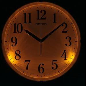 セイコークロック KX205B 電波掛時計 茶メタリック ステップセコンド おやすみ秒針 自動点灯ライト付