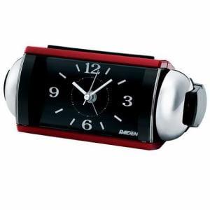 セイコークロック NR442R PYXIS アナログ目覚し時計 スイープセコンド ライト付
