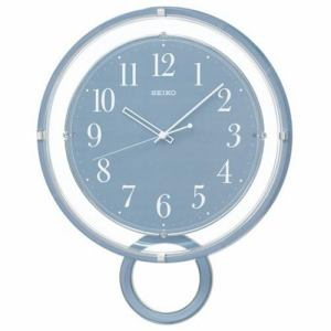 セイコークロック PH205L スタンダード 電波掛時計 青塗装 ステップセコンド おやすみ秒針