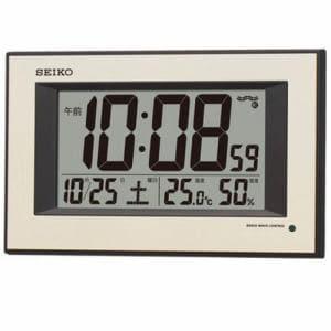 セイコークロック SQ438G デジタル時計 電波掛時計 温度・湿度表示 高コントラスト液晶 自動点灯ライト付