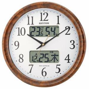 リズム時計 4FY617SR23 掛時計 ピュアカレンダーM617S 茶色木目仕上