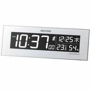 リズム時計 8RZ173SR03 RHYTHM Iroria 温度・湿度表示付 電子音アラーム 掛置兼用AC式電波デジタルクロック
