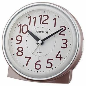 リズム時計 8RE663SR13 RHYTHM ピュアライトR663 連続秒針 夜間自動点灯ライト アラームクロック