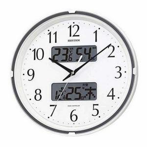 リズム時計 4FYA07SR03 掛時計 フィットウェーブリブ・シロ 白