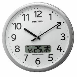 リズム時計 4FNA01SR19 掛時計 プログラムカレンダ01S シルバーメタリック色