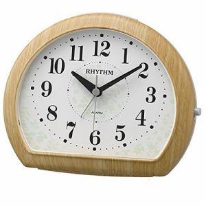 リズム時計 8RE662SR07 RHYTHM マイキーR662 木枠 連続秒針 スヌーズ機能 アナログアラームクロック