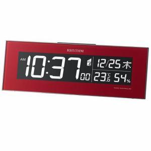 リズム時計 8RZ173SR01 RHYTHM Iroria 温度・湿度表示 電子音アラーム 掛置兼用AC式デジタル電波クロック