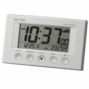 リズム時計 8RZ166SR03 RHYTHM フィットウェーブスマート 温度・湿度表示 六曜表示 電波デジタルクロック