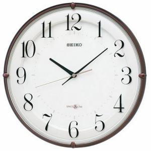 セイコークロック GP216B 衛星電波クロック 時差修正機能 スイープセコンド スタイリッシュデザイン掛け時計