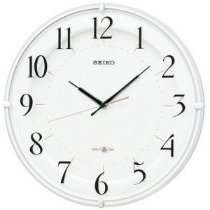セイコークロック GP216W 衛星電波クロック 時差修正機能 スイープセコンド スタイリッシュデザイン掛け時計