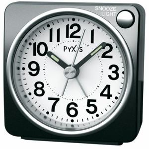 セイコークロック R437K PYXIS 目覚し時計 スタンダード スヌーズ ライト ライト付き目覚し時計