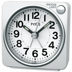 セイコークロック NR437W PYXIS 目覚し時計 スタンダード スヌーズ ライト ライト付き目覚し時計