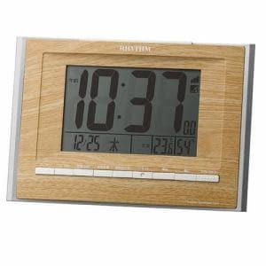 リズム時計 8RZ172SR07 RHYTHM フィットウェーブD172 電波目覚し時計 電子音アラーム(4段階) 掛・置兼用