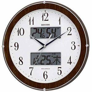 リズム時計 4FY622SR23 掛時計 デンパメザマシトケイ 木目仕上