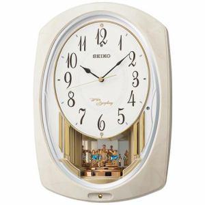 セイコークロック AM261A アミューズ時計 時報モニター スイープセコンド おやすみ秒針 回転飾り付電波クロック