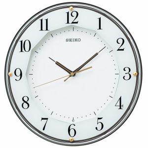 セイコークロック KX213B スタンダード 電波掛時計 茶メタリック塗装 スイープセコンド おやすみ秒針