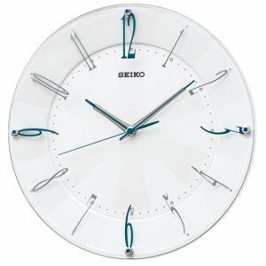セイコークロック KX214W スタンダード 電波掛時計 白パール塗装(光沢仕上げ) スイープセコンド インテリア掛時計