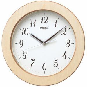 セイコークロック KX216A 電波掛時計 自動点灯機能 木枠 ステップセコンド